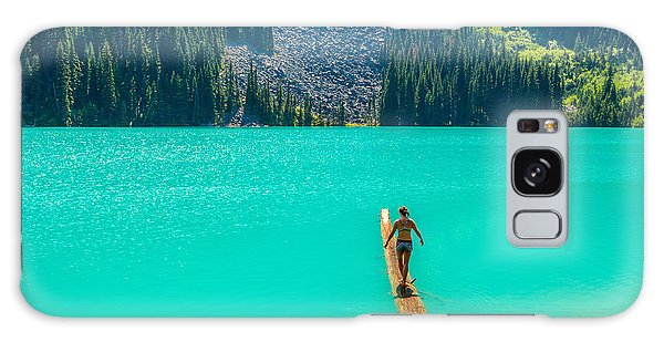 Travel Destinations Galaxy Case - Majestic Mountain Lake In Canada. Upper by Karamysh
