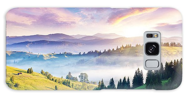 Ecology Galaxy Case - Majestic Mountain Landscape With by Creative Travel Projects