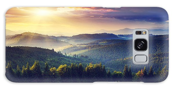 Ecology Galaxy Case - Majestic Sunset In The Mountains by Creative Travel Projects