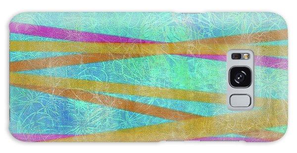 Malaysian Tropical Batik Strip Print Galaxy Case