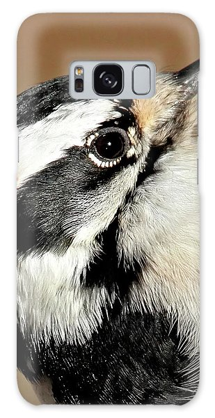 Male Downy Woodpecker Galaxy Case