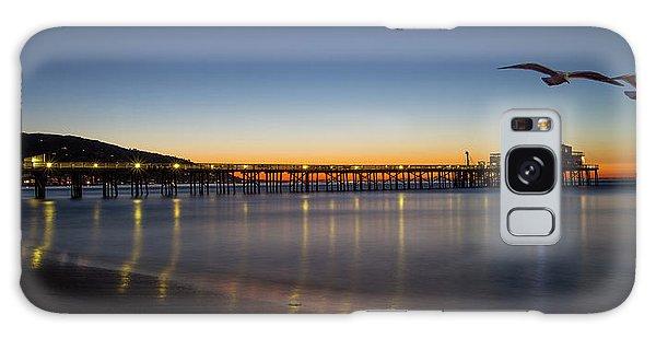 Malibu Pier At Sunrise Galaxy Case