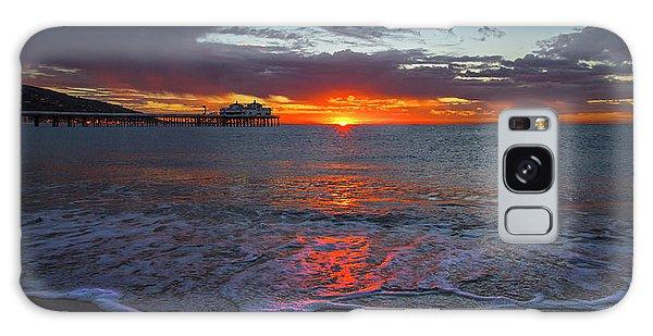 Malibu Pier Sunrise Galaxy Case