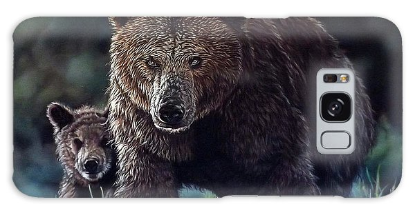 Mama Brown With Cubs Galaxy Case
