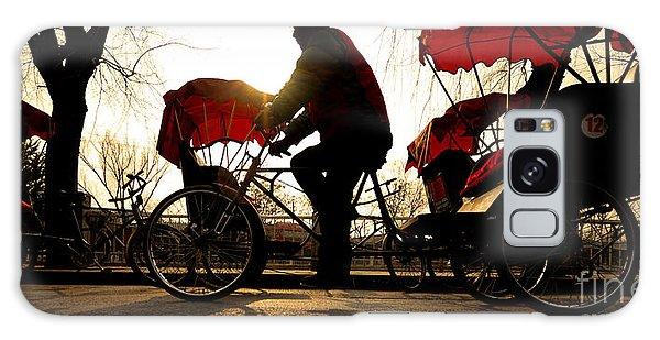 Dusk Galaxy Case - Man Riding A Rickshaw by Rawpixel.com