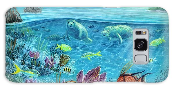 Mangrove Snapper Galaxy Case - Manatee Reef by Danielle Perry