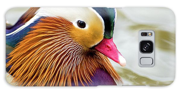 Mandarin Duck Portrait Galaxy Case