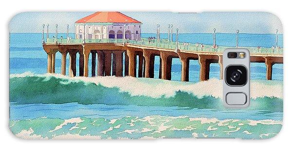 Manhattan Beach Pier Galaxy Case