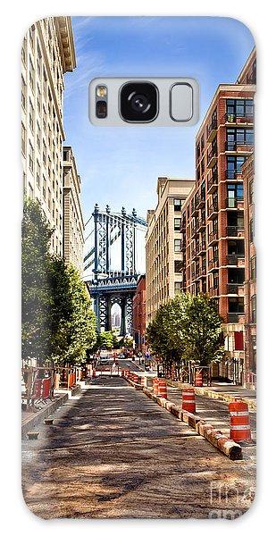 Brick House Galaxy Case - Manhattan Bridge,view From Washington by Andrey Bayda