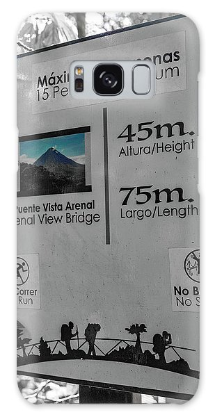 Language Galaxy Case - Manuel Antonio Jungle Arenal Sign by Betsy Knapp