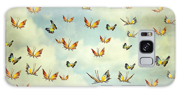 Decorative Galaxy Case - Many Colorful Butterflies Flying Into by Valentina Photos