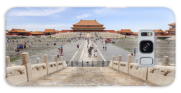Travel Destinations Galaxy Case - Many Tourists In The Forbidden City by Chuyuss