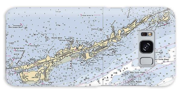 Marathon And Duck Keys Custom Noaa Nautical Chart Galaxy Case
