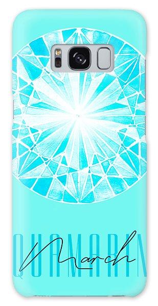 March Galaxy Case - March Birthstone - Aquamarine by Amanda Lakey