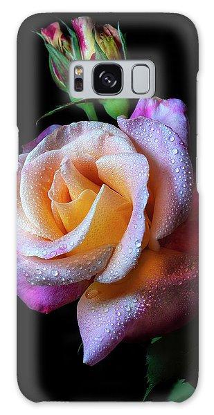 Mardi Gras Rose Portrait Galaxy Case