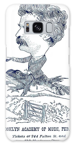 Calavera Galaxy Case - Mark Twain Poster For Talk At Brooklyn Academy by American School