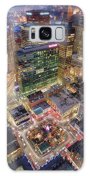 Market Square From Above  Galaxy Case