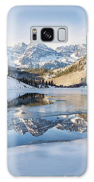 Galaxy Case featuring the photograph Maroon Bells Reflection Winter by Nathan Bush