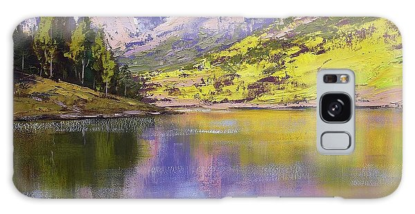 Mountain Lake Galaxy Case - Maroon Bells Reflections by Graham Gercken