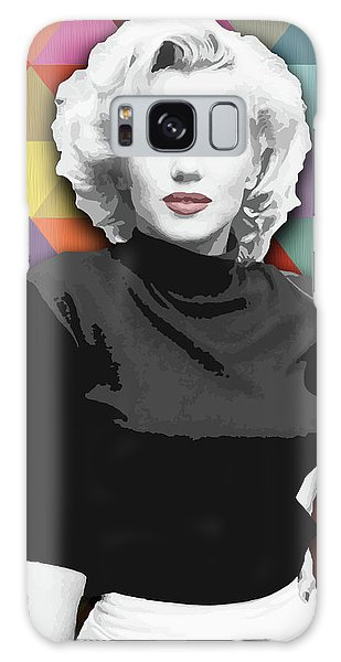 Galaxy Case featuring the painting Marylin Monroe Diamonds by Carla Bank