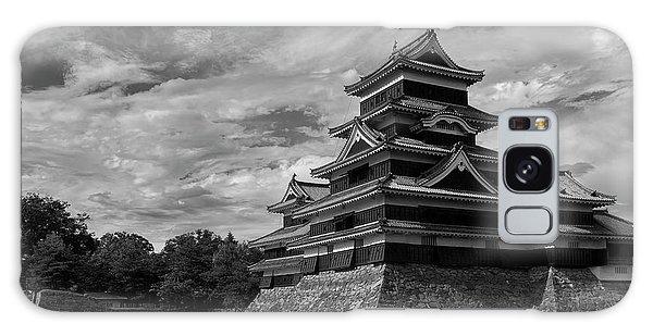 Castle Galaxy Case - Matsumoto Castle Japan Black And White by Ivan Krpan