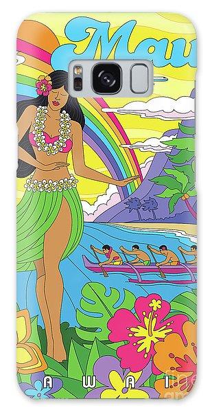 Hibiscus Galaxy Case - Maui Poster - Pop Art - Travel by Jim Zahniser
