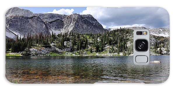 Medicine Bow Peak And Mirror Lake Galaxy Case