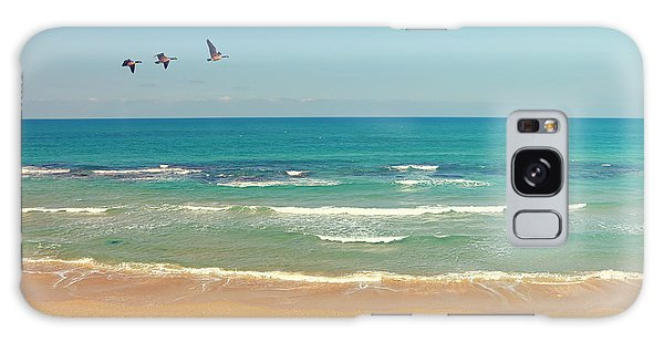 Goose Galaxy Case - Mediterranean Sea And Sand Beach by Protasov An