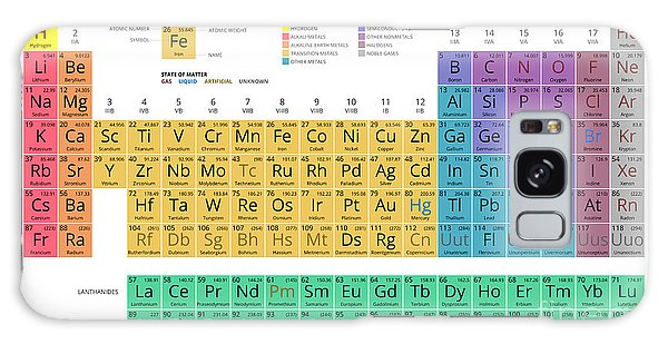 Scientific Illustration Galaxy Case - Mendeleev Periodic Table Of The by Vchal