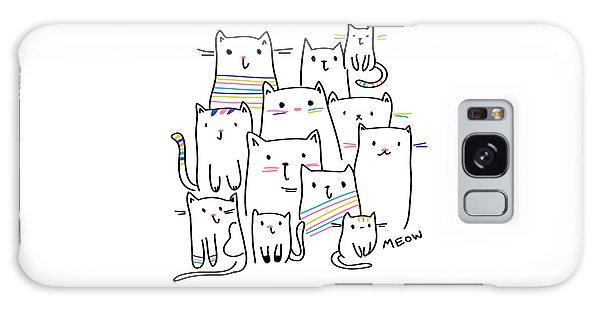 Meow Kitties - Baby Room Nursery Art Poster Print Galaxy Case