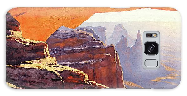 Arched Galaxy Case - Mesa Arch Sunrise by Graham Gercken