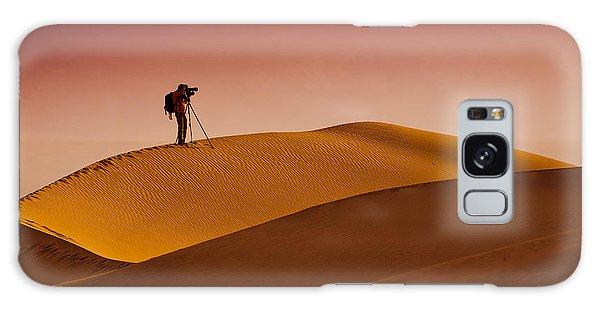 Usa Galaxy Case - Mesquite Flat Dunes At Death Vakkey by Gleb Tarro