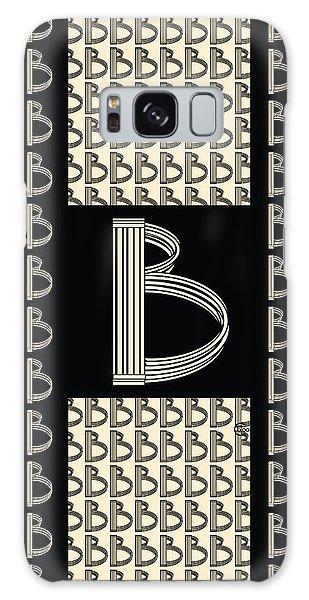 Metropolitan Park Deco 1920s Monogram Letter Initial B Galaxy Case