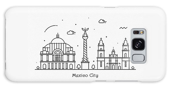 Mexican Galaxy Case - Mexico Cityscape Travel Poster by Inspirowl Design
