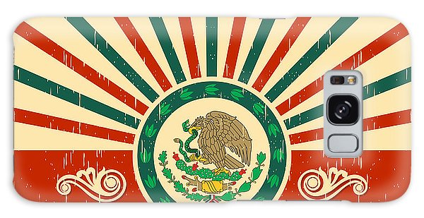 Mexican Galaxy S8 Case - Mexico Vintage Patriotic Poster - Card by Julio Aldana