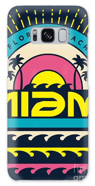 Board Galaxy Case - Miami Surf Typography, T-shirt by Braingraph