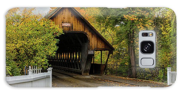 Galaxy Case featuring the photograph Middle Covered Bridge - Woodstock Vermont by Expressive Landscapes Fine Art Photography by Thom