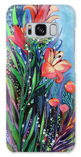 Hummingbird Galaxy S8 Case - Midnight Garden by Jennifer Lommers