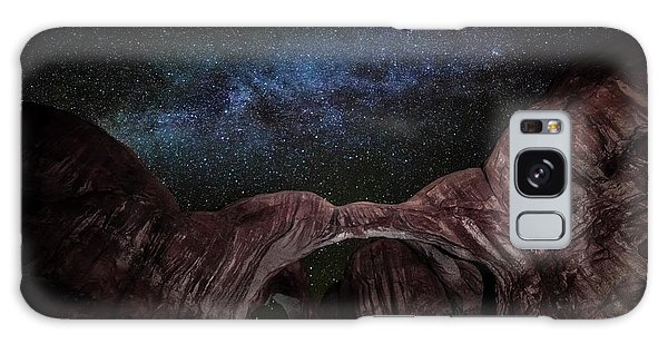 Galaxy Case featuring the photograph Milky Way At Double Arch by David Morefield