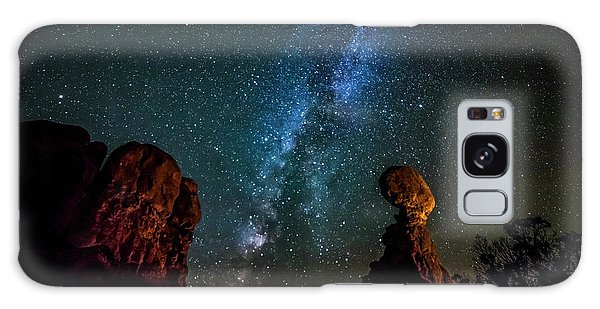 Galaxy Case featuring the photograph Milky Way Over Balanced Rock by David Morefield