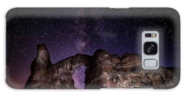 Galaxy Case featuring the photograph Milky Way Over Turret Arch by David Morefield