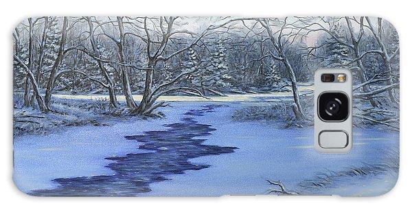 Millhaven Creek In Winter Galaxy Case