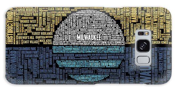 Downtown Galaxy Case - Milwaukee Neighborhood Word Cloud by Scott Norris