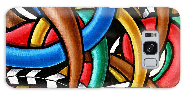 Colorful Abstract Art Painting Chromatic Intuitive Energy Art - Ai P. Nilson Galaxy Case