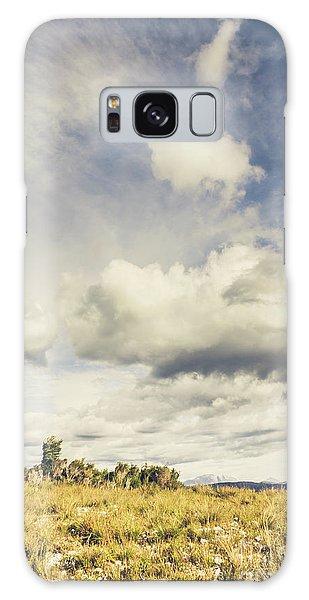 Cloudscape Galaxy Case - Minimal Mountaintop Meadow by Jorgo Photography - Wall Art Gallery