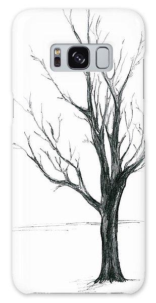 Minimal Winter Maple Tree Galaxy Case
