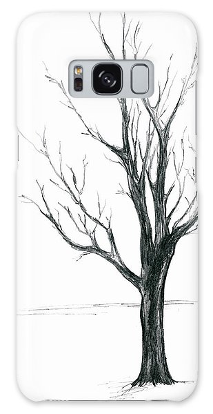 Minimal Winter Maple Tree Galaxy Case
