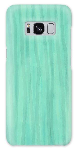Mint Green Lines Galaxy Case