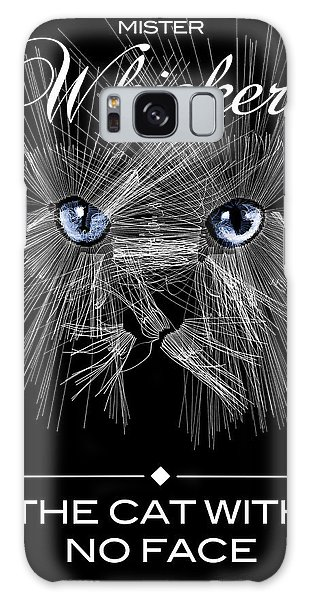 Galaxy Case featuring the digital art Mister Whiskers by ISAW Company