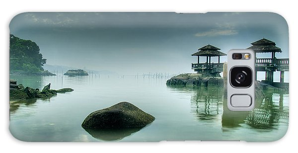 Tide Galaxy Case - Misty Morning As Seen Over Rocks by Lawrence Wee